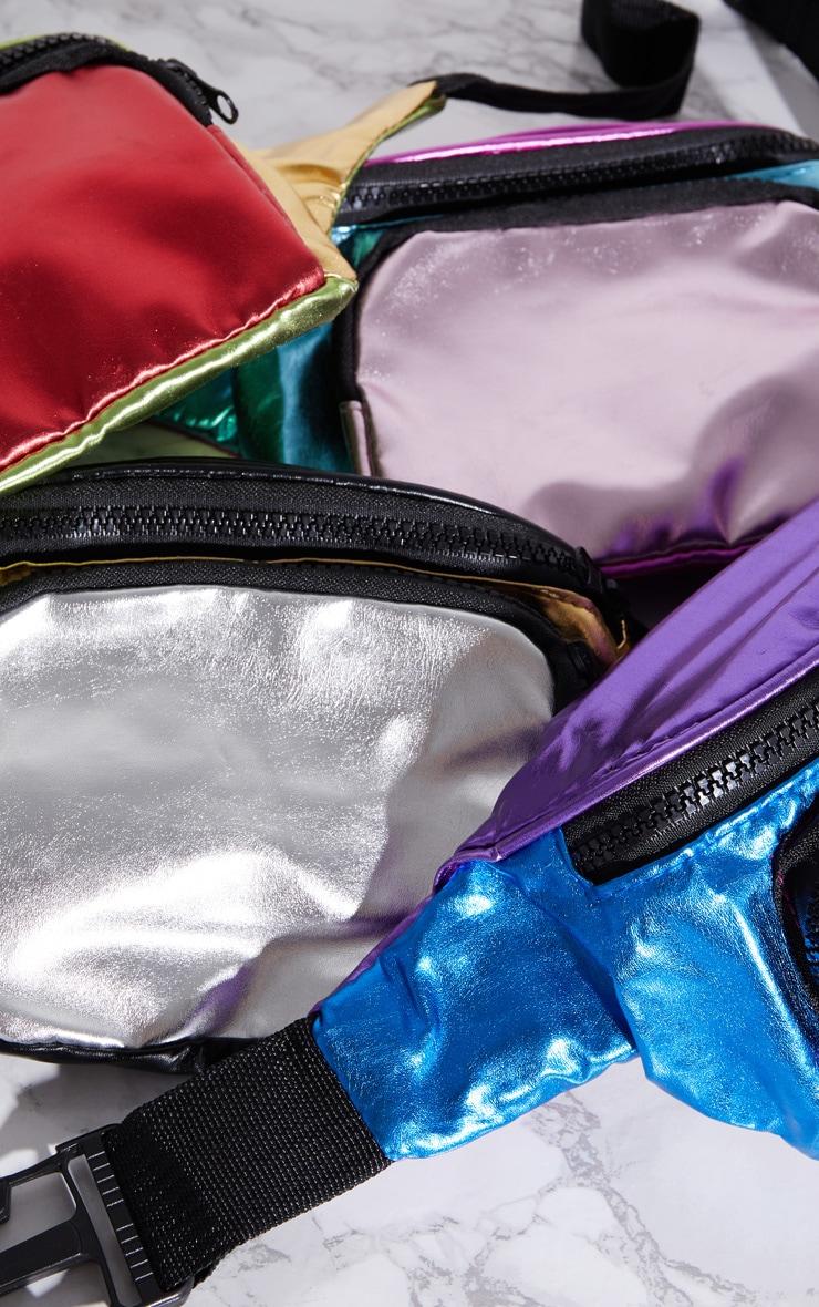 Pink Multi Colour Metallic Bum Bag 7