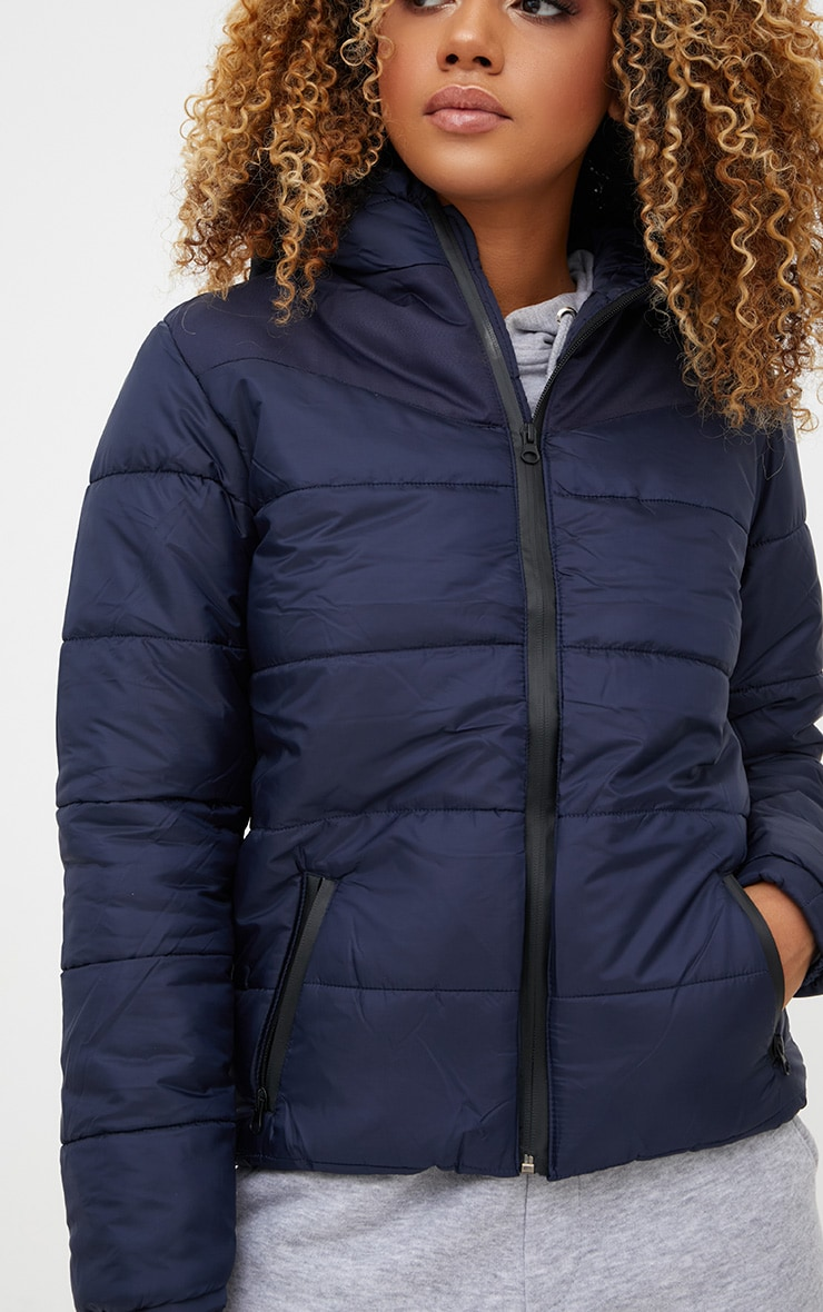 Navy Hooded Puffer Jacket 5