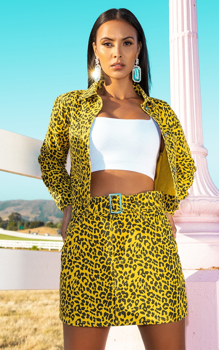 Yellow Leopard Denim Jacket 1