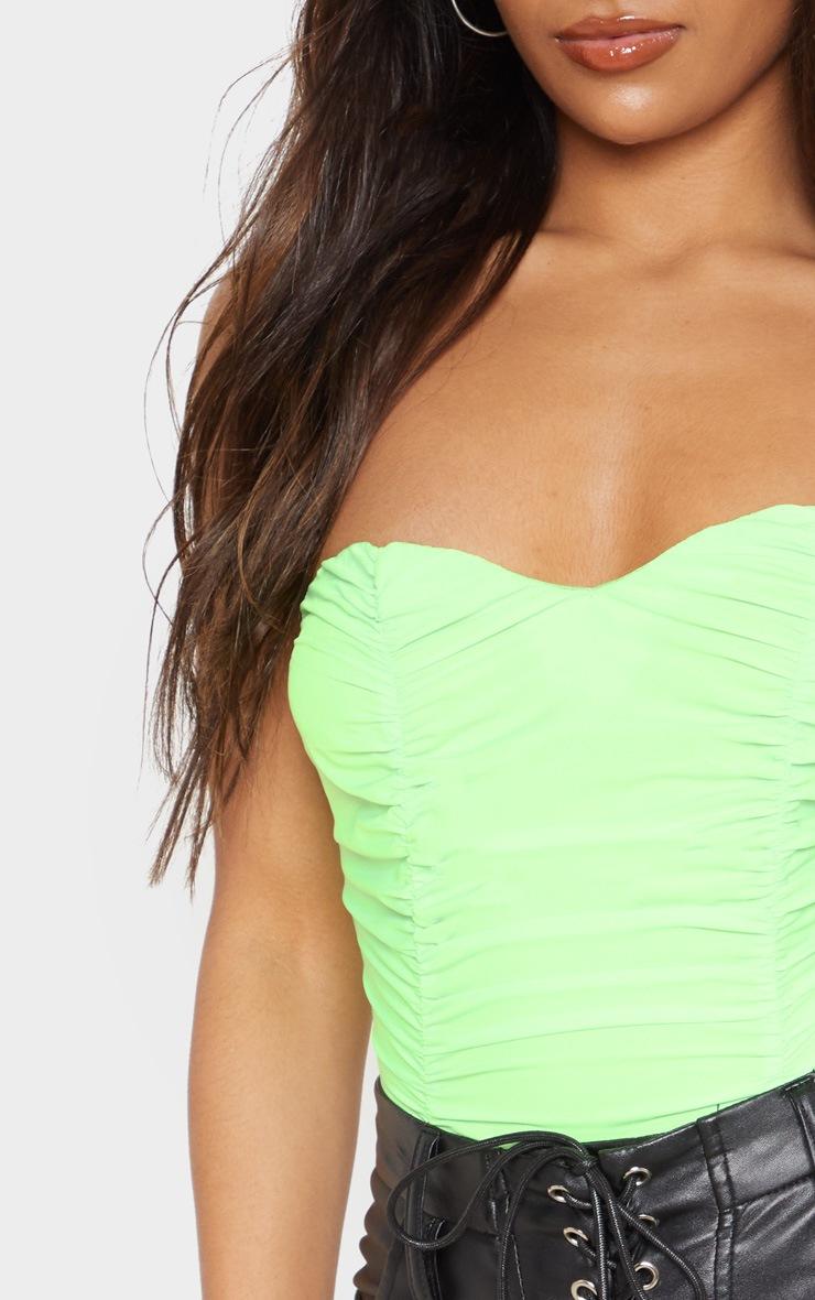 Neon Green Bandeau Bodysuit 6