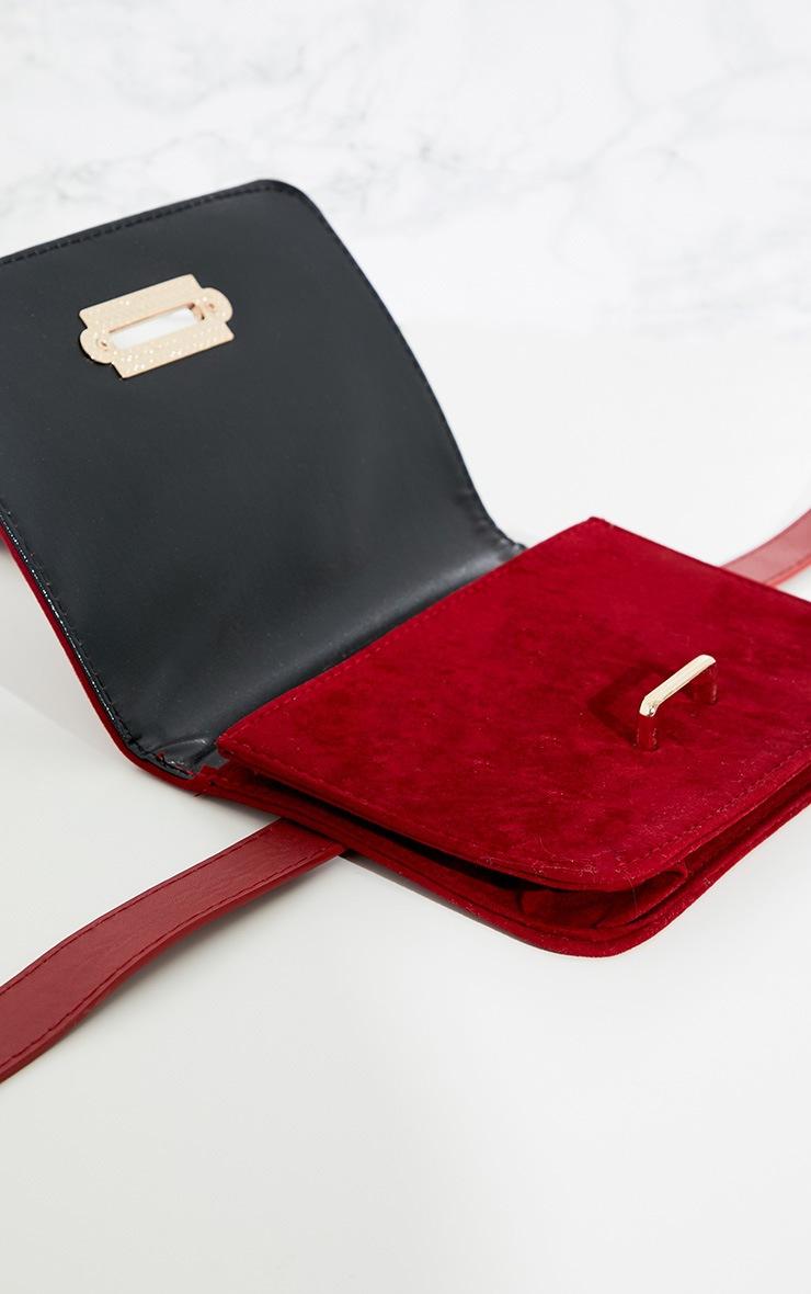 Burgundy Suedette Western Belted Bum Bag  5