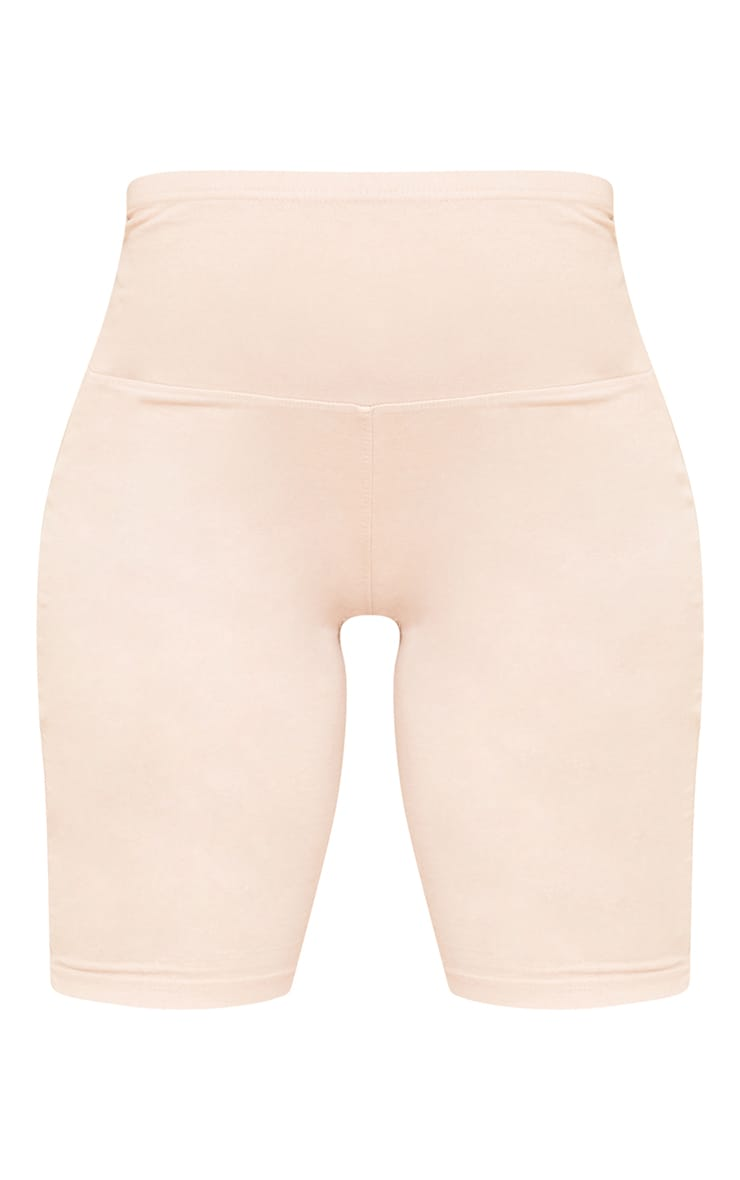 Maternity Stone Bump Support Washed Cotton Cycle Shorts 6