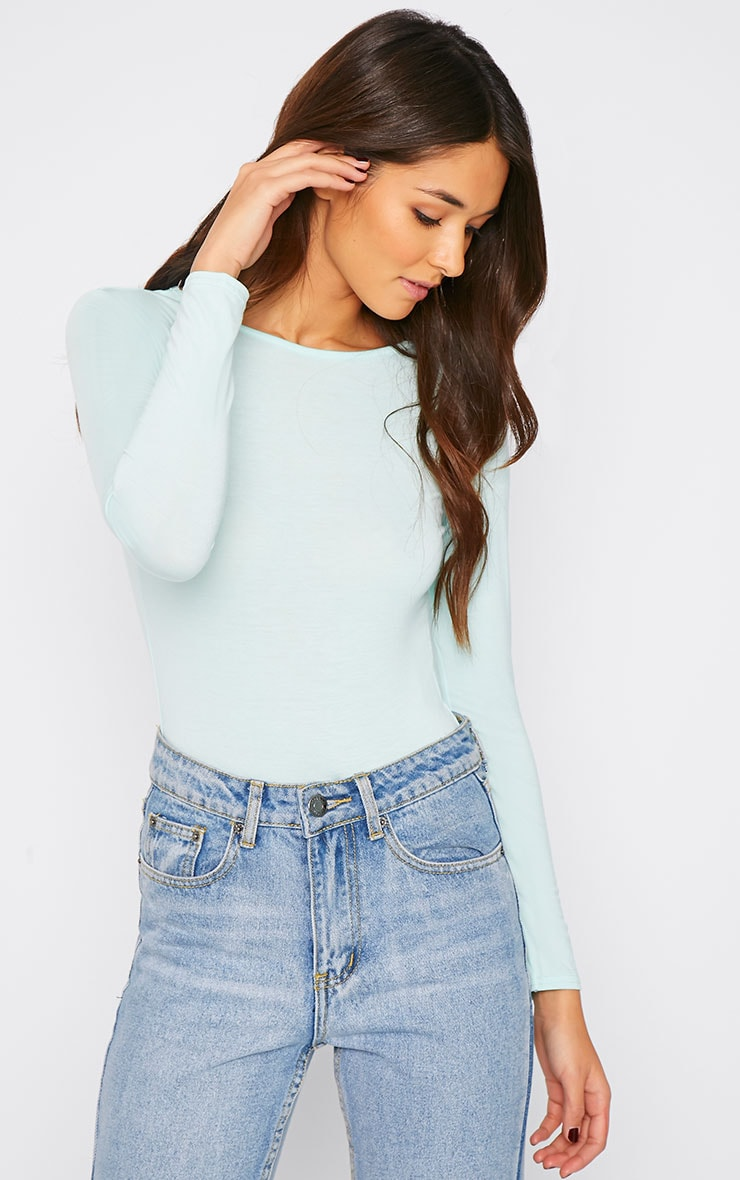Charlotte Mint Cut Out Bodysuit  1