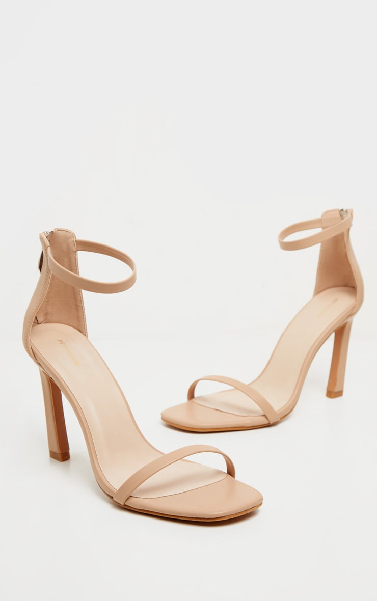 Nude Curved Heel Strappy Sandal 3
