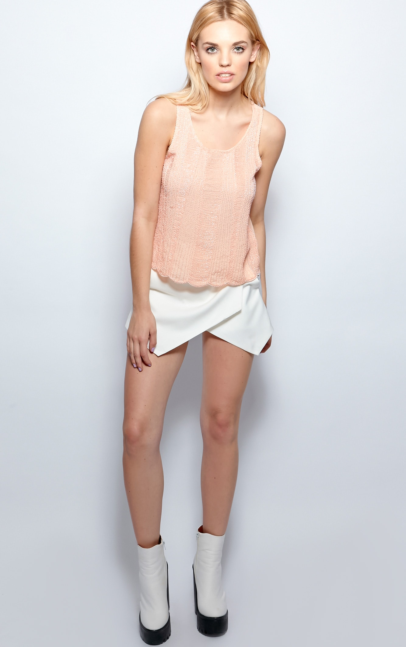 Raine Peach Embellished Cami  3