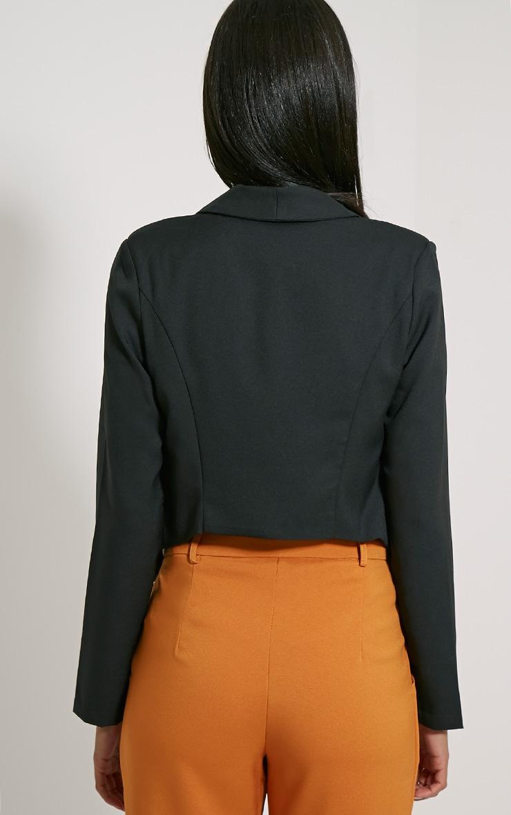 Jaida Black Tailored Cropped Blazer 2