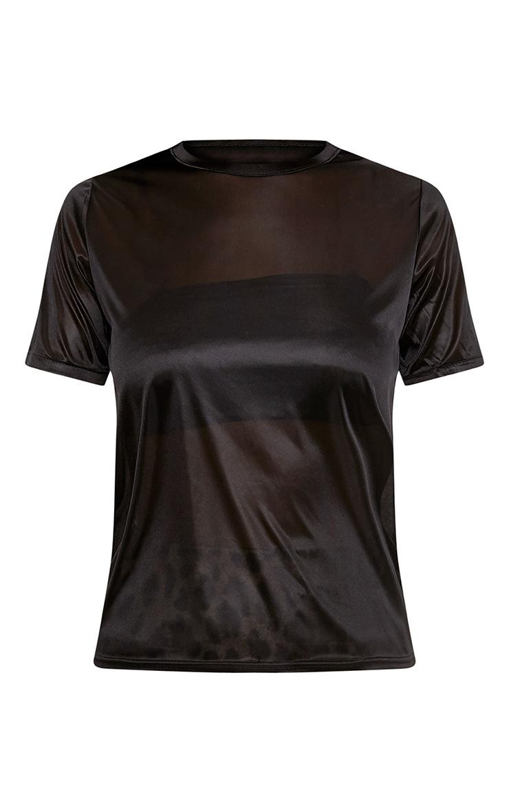 Lexie Black Sheer Slinky T Shirt 3