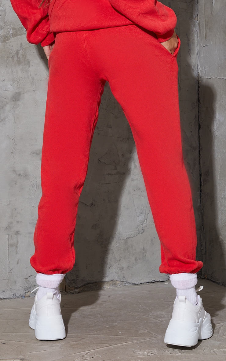 Red Washed Soho Town Printed Joggers 3