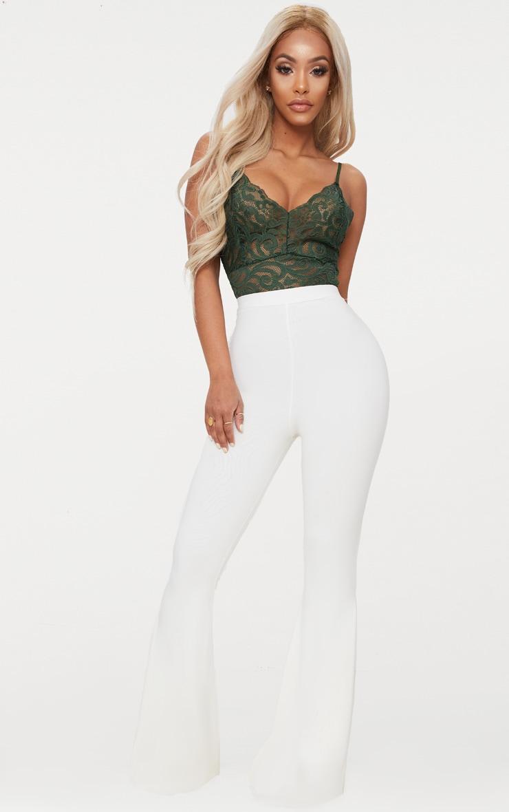 Khaki Shape Sheer Lace Bodysuit 5