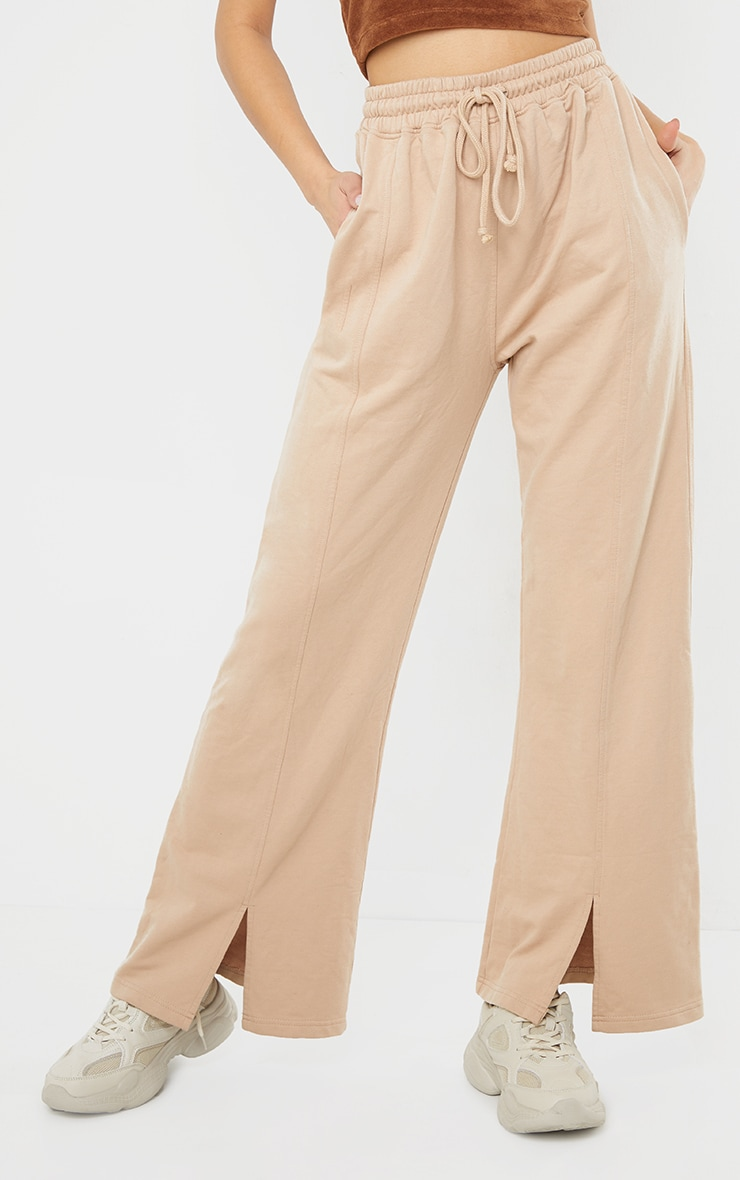 Stone Washed Wide Leg Joggers 2