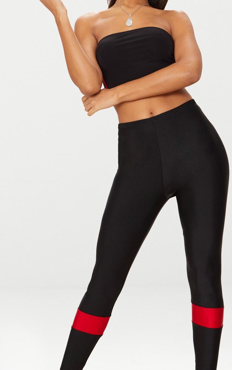 Black Sport Stripe Disco Leggings 5