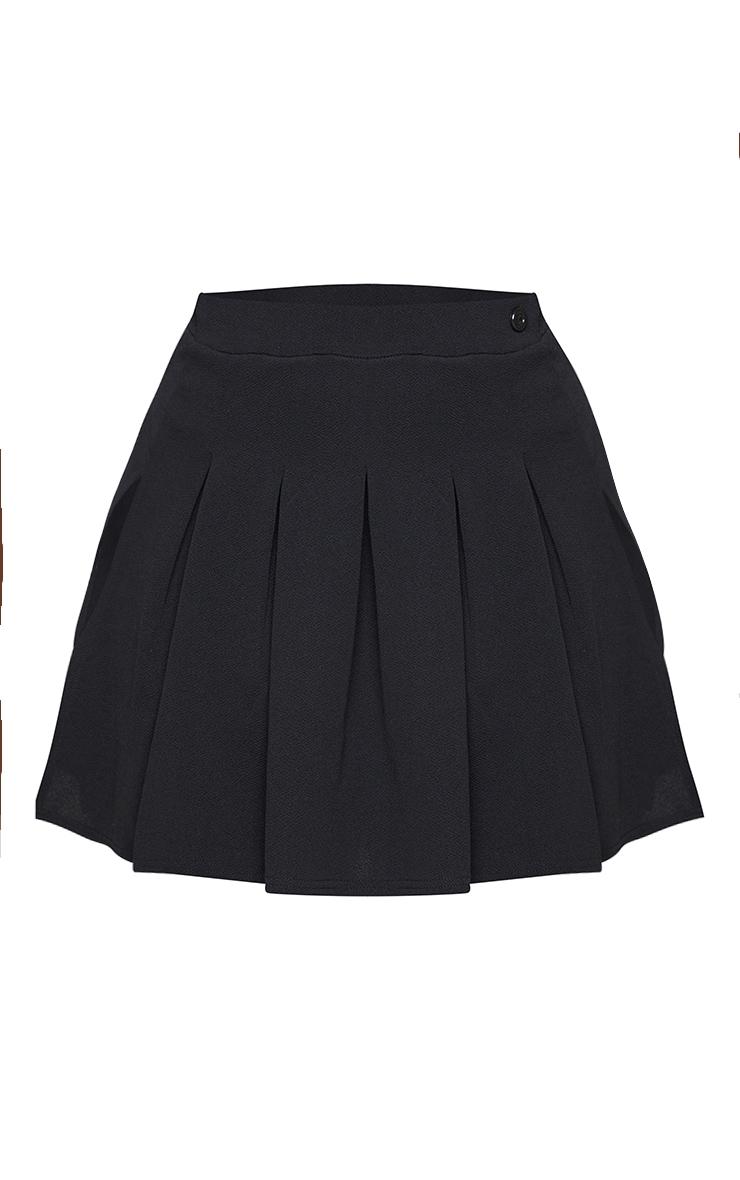 PLT Plus - Jupe de tennis noire plissée & fendue 6
