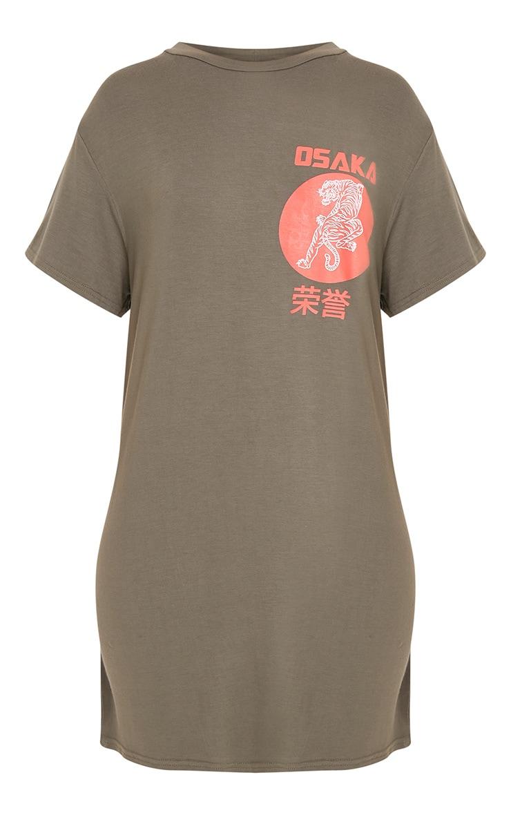 Osaka Khaki Tiger T Shirt Dress 3
