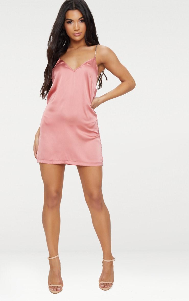 Dark Rose Chain Strap Cami Dress 4