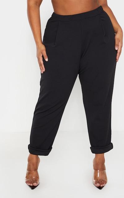 Plus Black High Waist Tapered Trouser