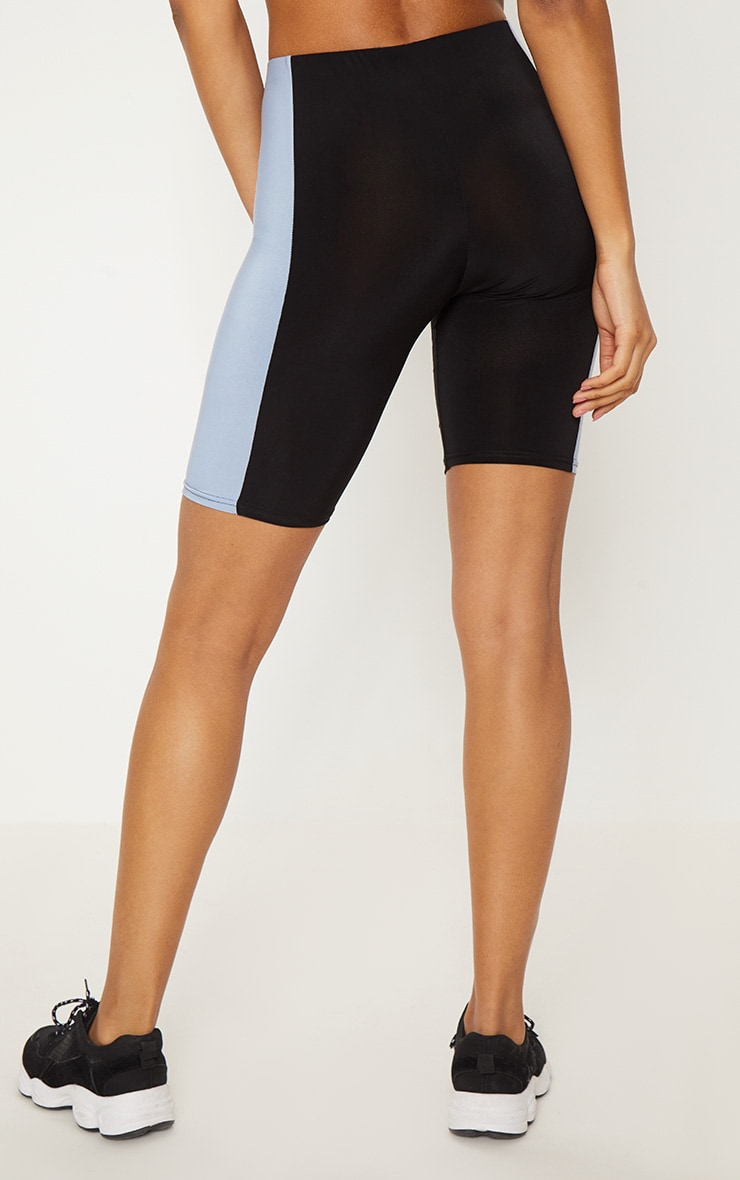 Black Slinky Side Panel Short 4