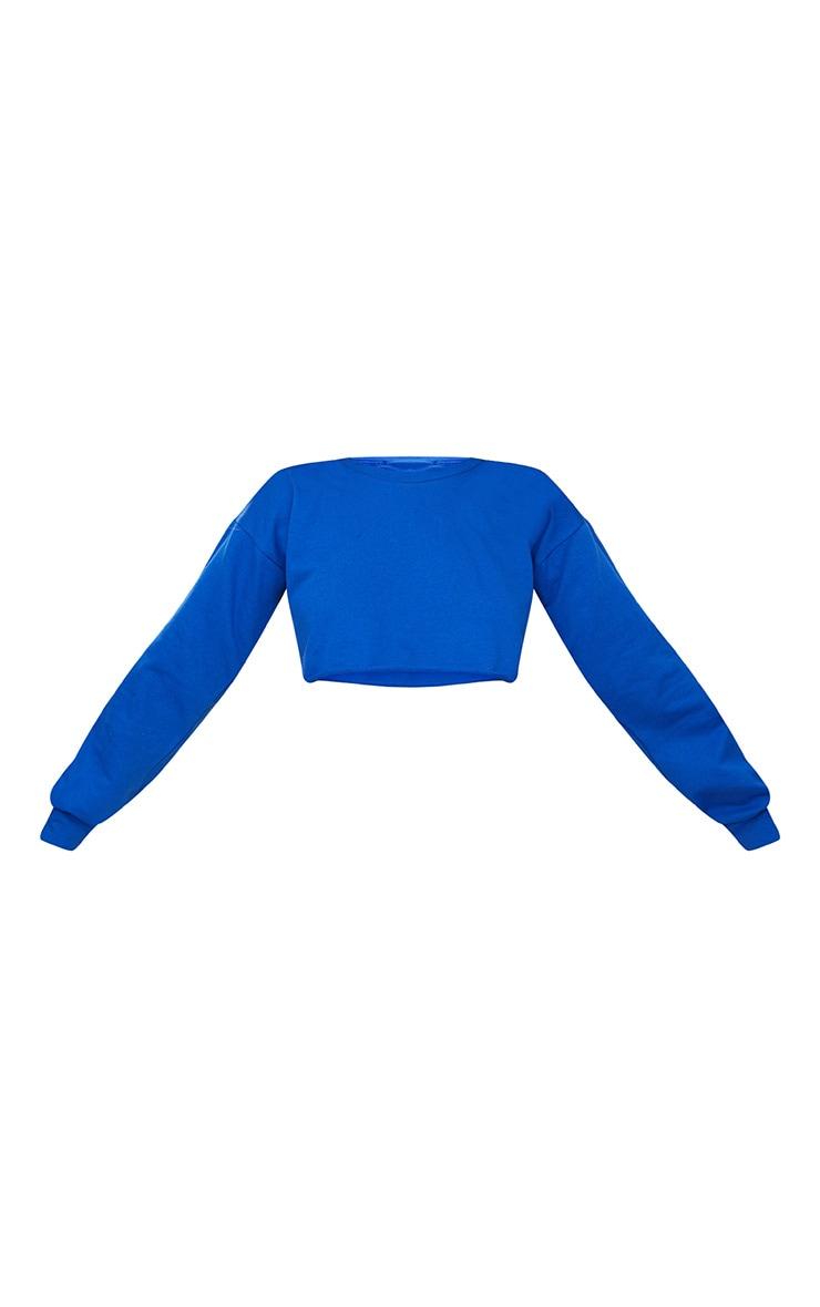 Cobalt Cut Off Crop Longsleeve Sweater 3