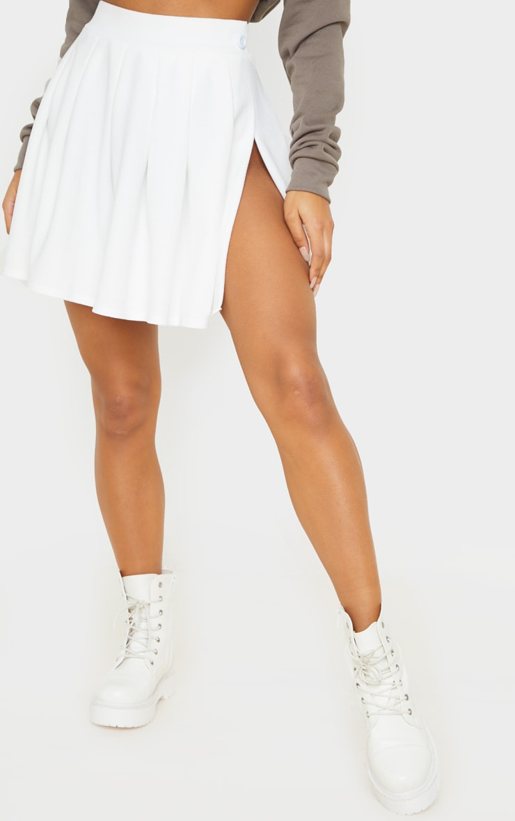 White Pleated Tennis Skirt 2