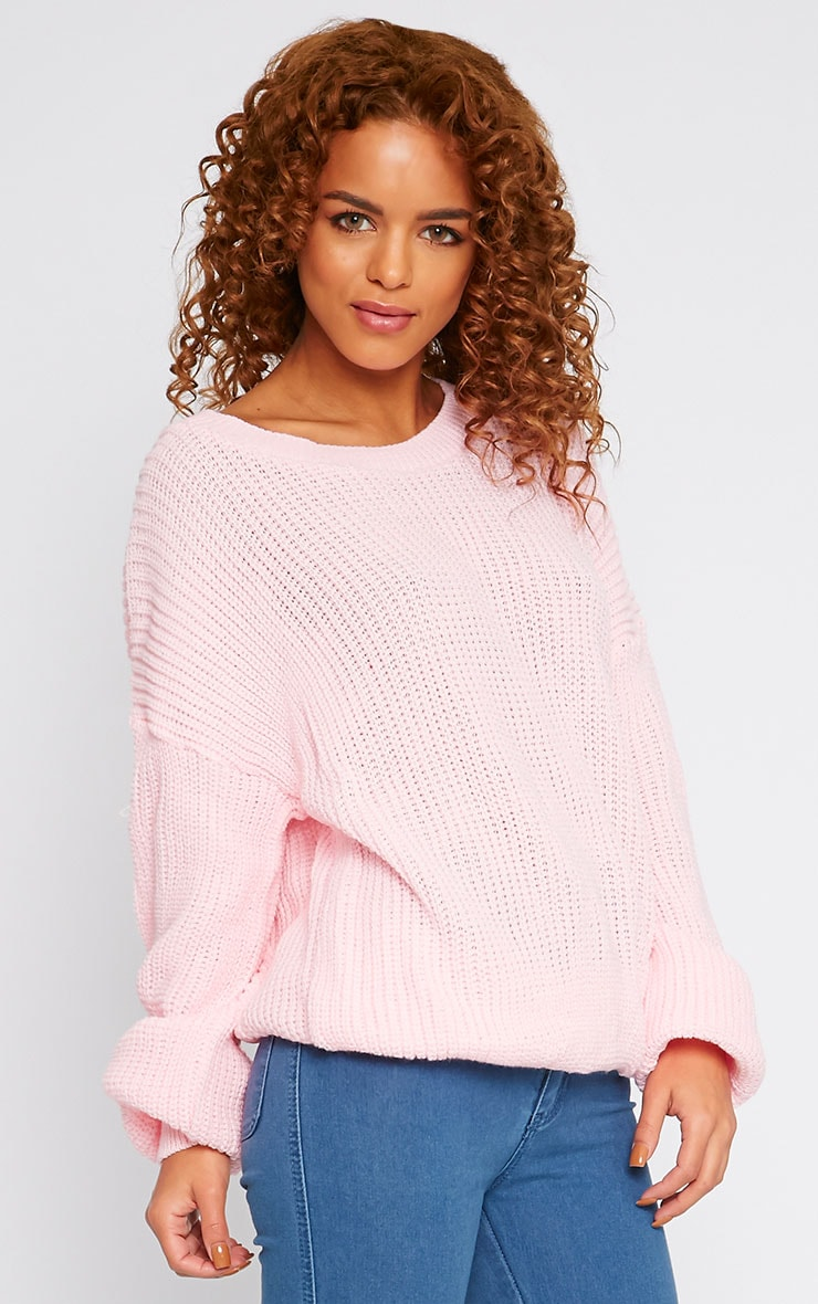 Delilah Pink Knitted Jumper 3