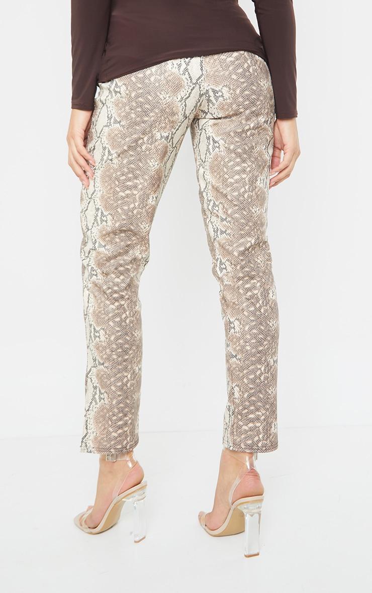 Maternity Stone Split Hem Snake Print Flared Trousers 3