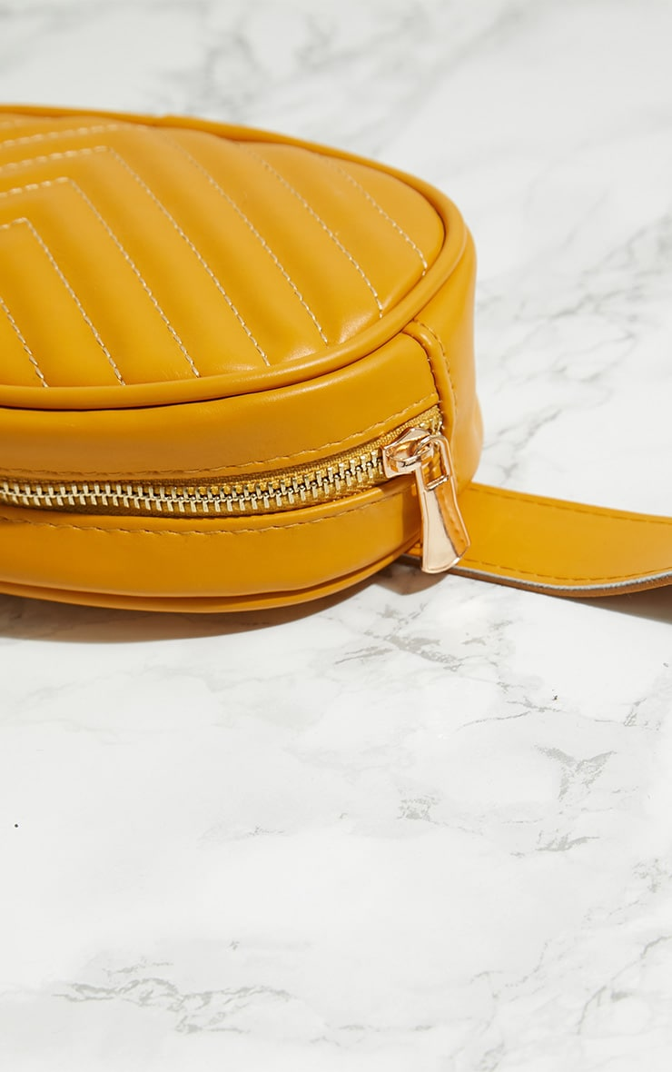 Yellow Chevron Quilted Bum Bag 5