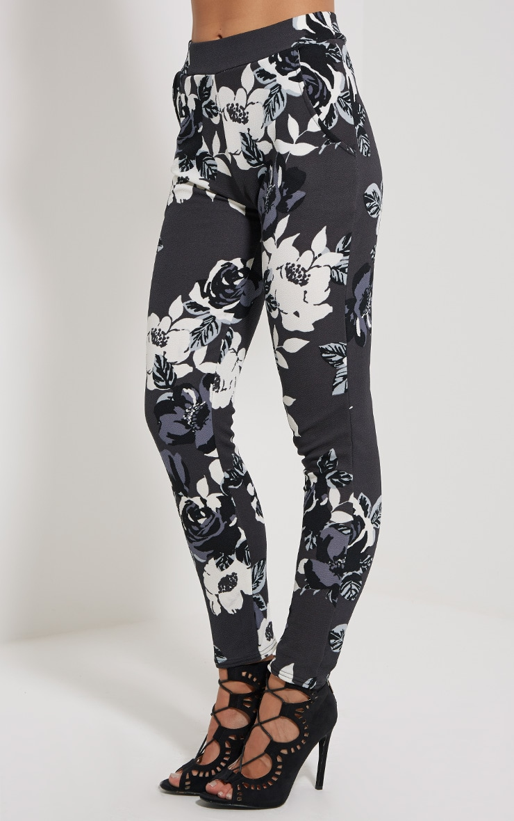 Zafier Grey Floral Trousers 3