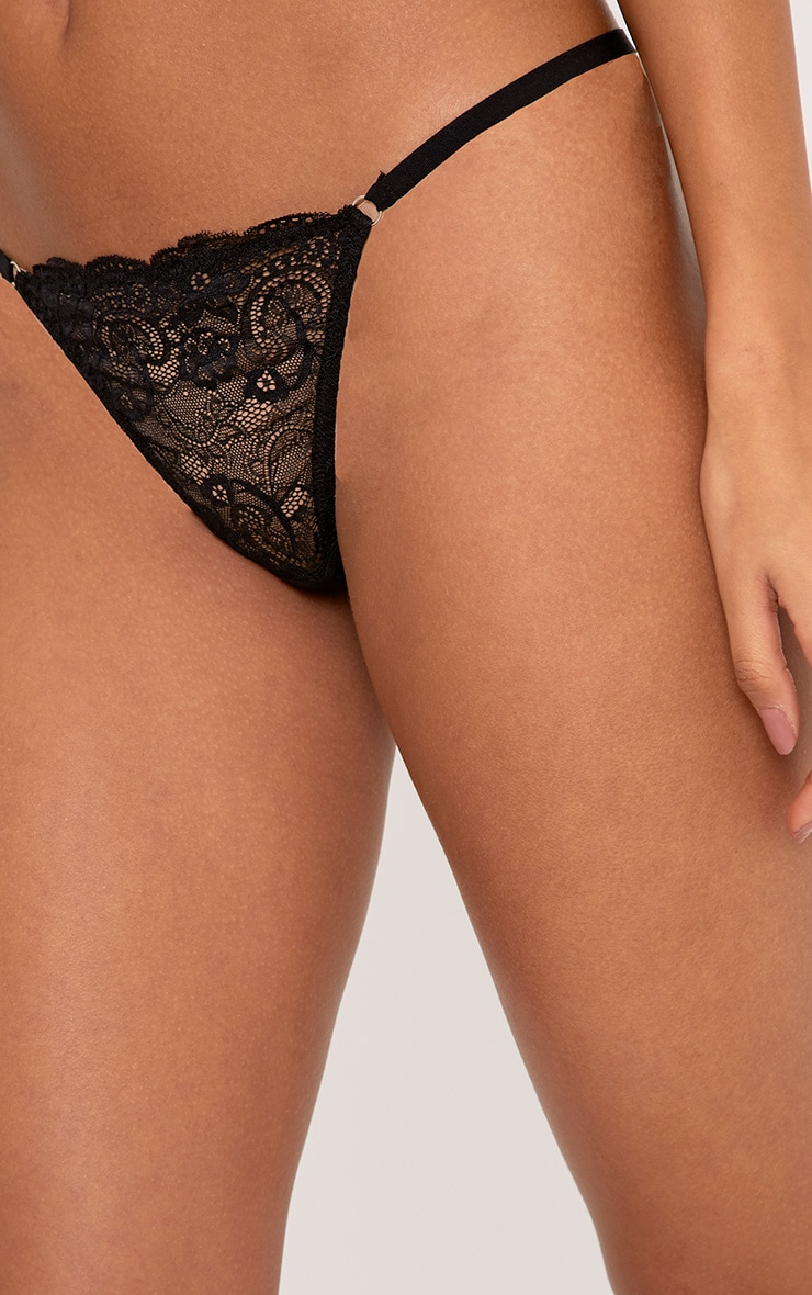 Maryanne Black Tanga Lace Thong 5