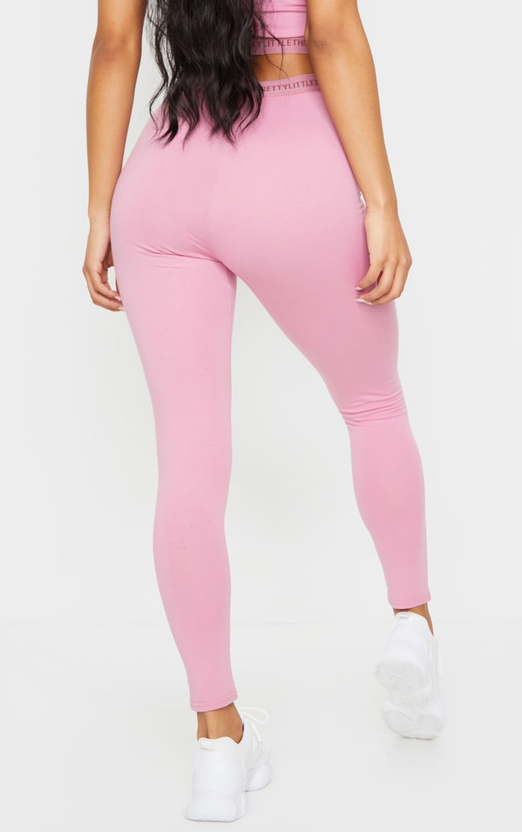 PRETTYLITTLETHING Dusty Pink Leggings 3