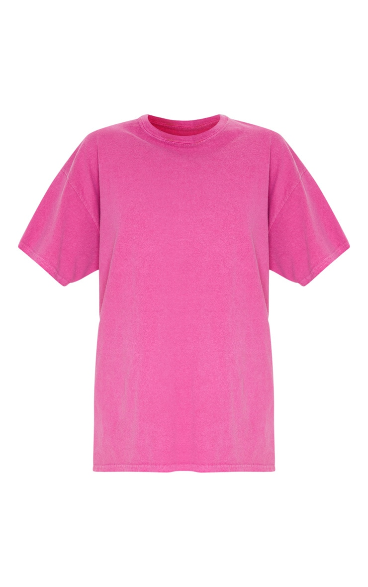 Pink Washed Oversized T Shirt 3