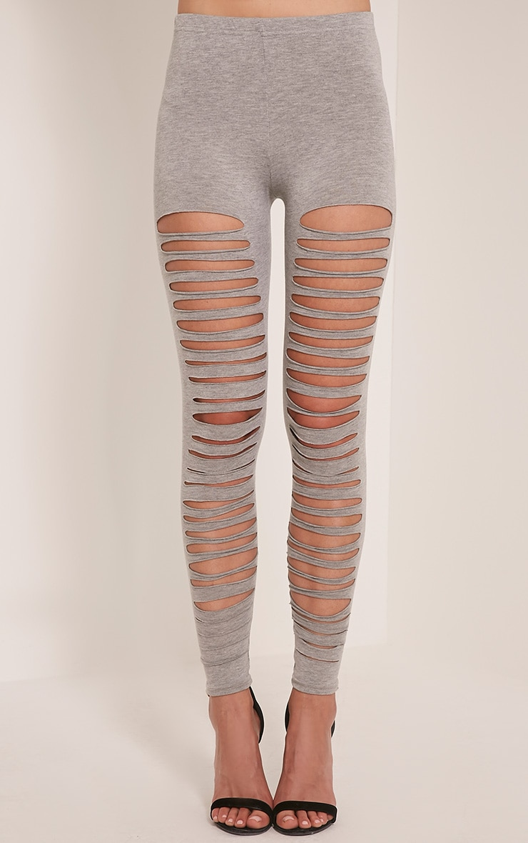 Sherry Grey Ripped Leggings 2