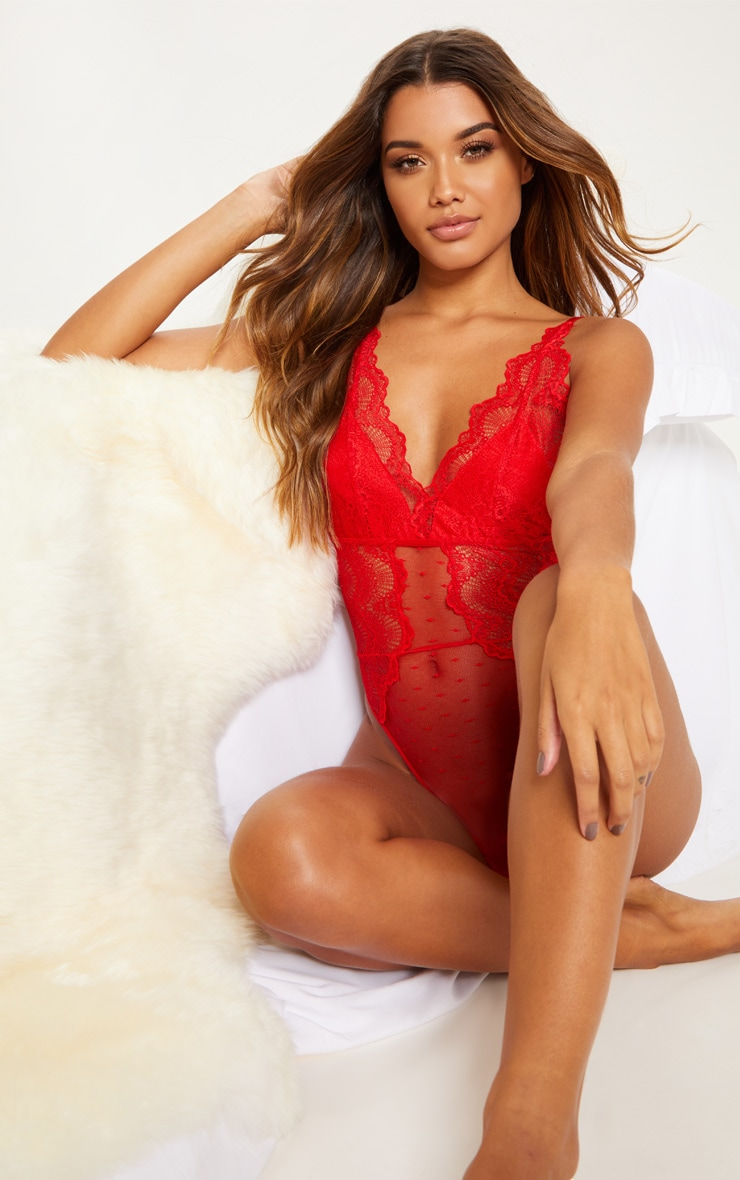 Red Lace Apex Dobby Mesh Body 5