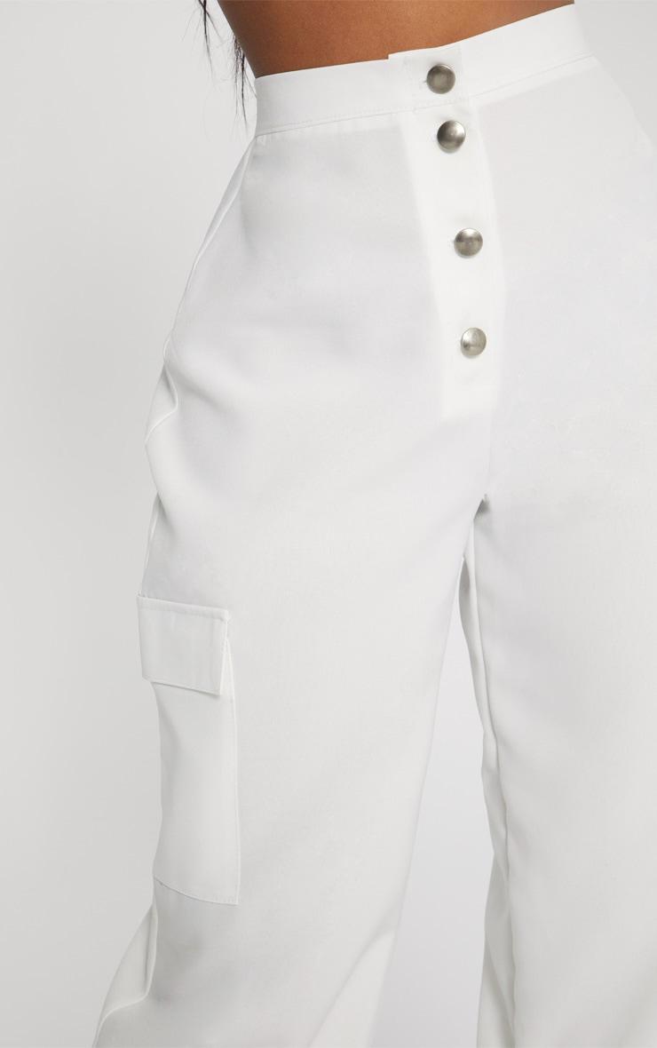 Shape Ivory Pocket Detail Cargo Trousers 5