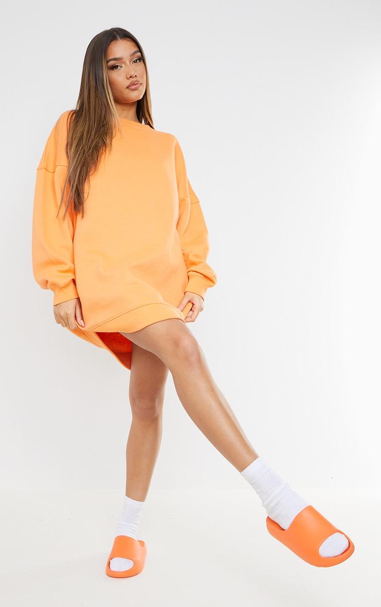 Tangerine Buffalo New York Graphic Sweatshirt Dress 3