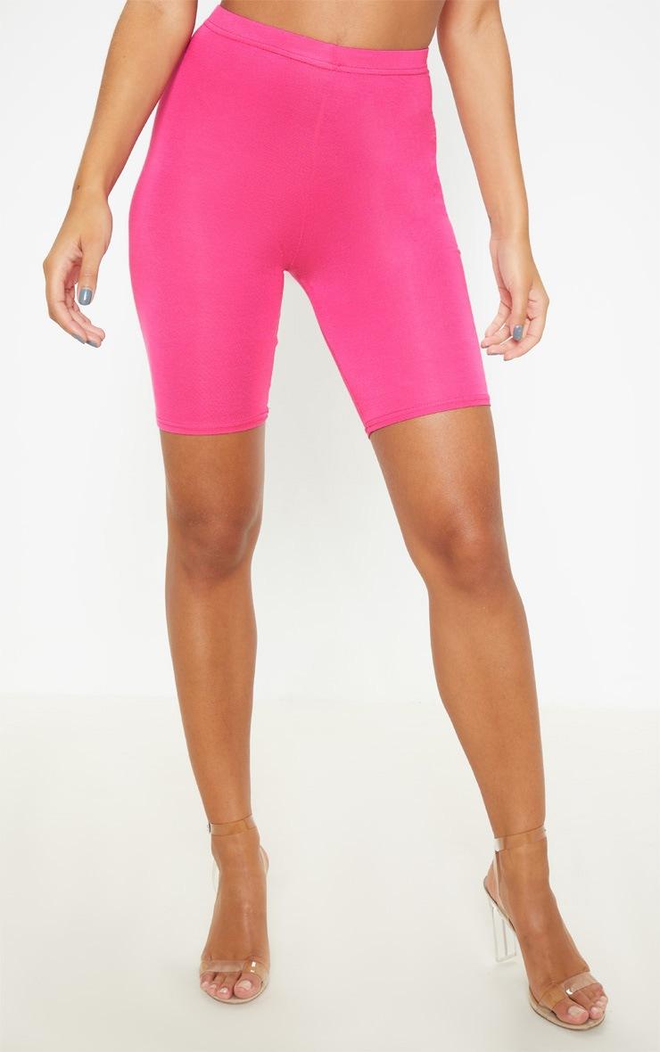Fuchsia Basic Cycle Shorts 3