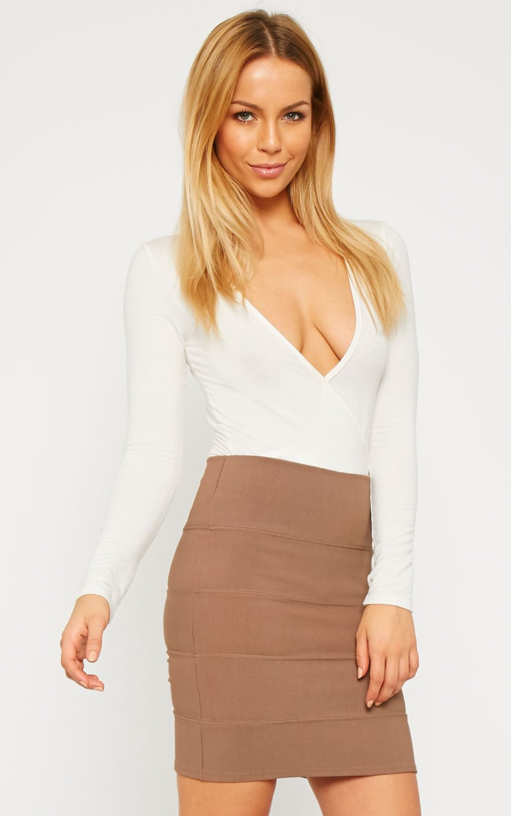 Anel Mocha Bandage Mini Skirt  1