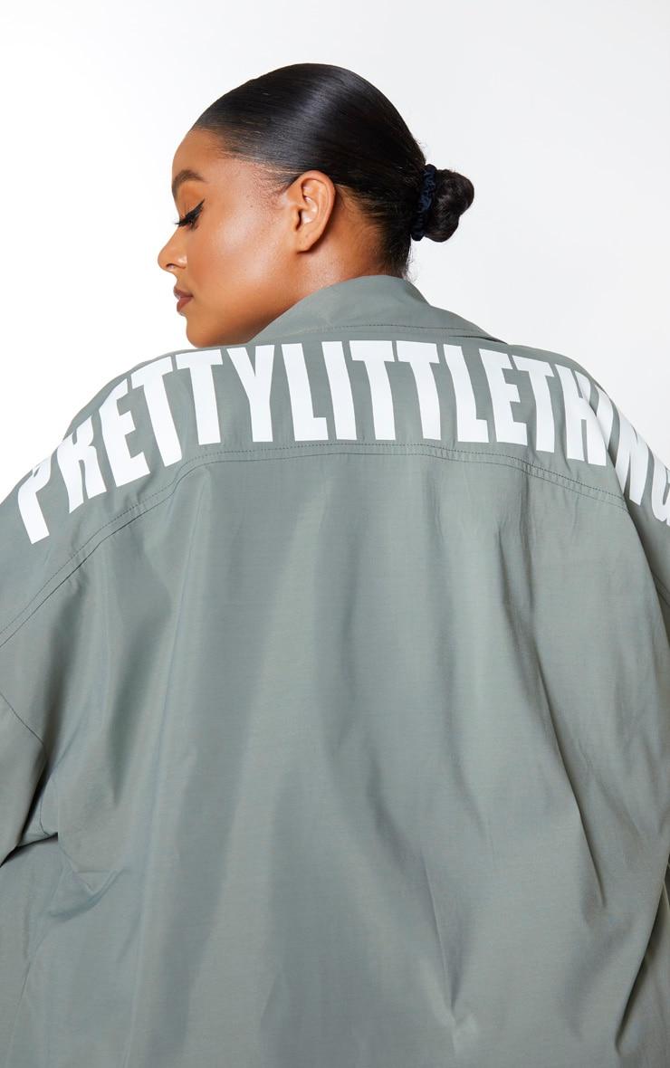 PRETTYLITTLETHING Plus Khaki Trench Coat 4