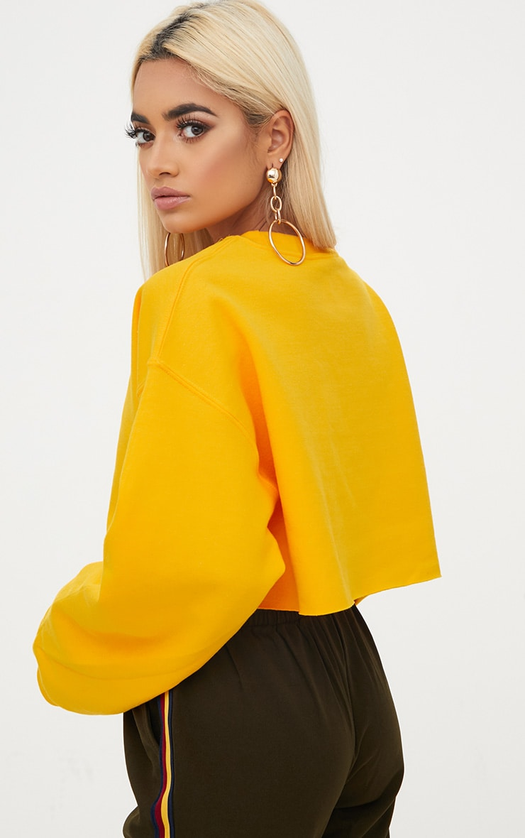 Yellow Ultimate Cropped Sweater 2