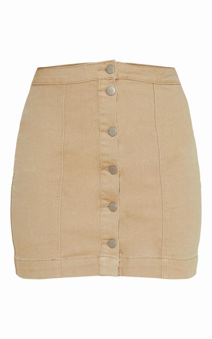 Dark Stone Denim Cammie Mini Skirt 3