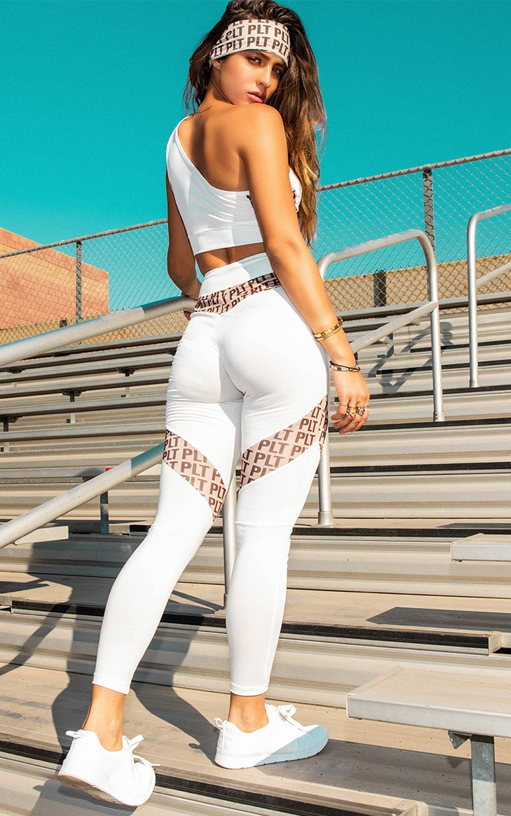 PLT White Panel Leggings