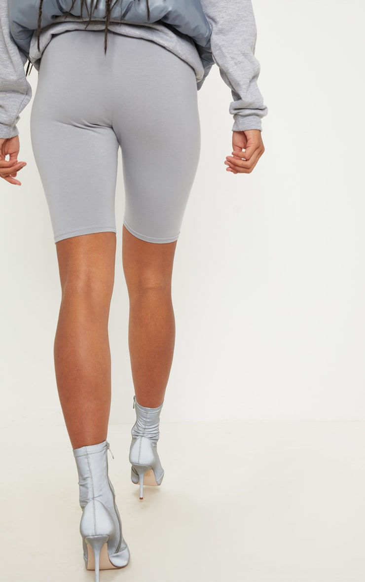 Space Grey Cotton Stretch Cycling Shorts 4