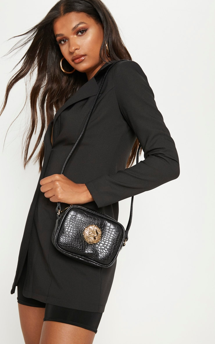 Black Lion Cross Body Bag