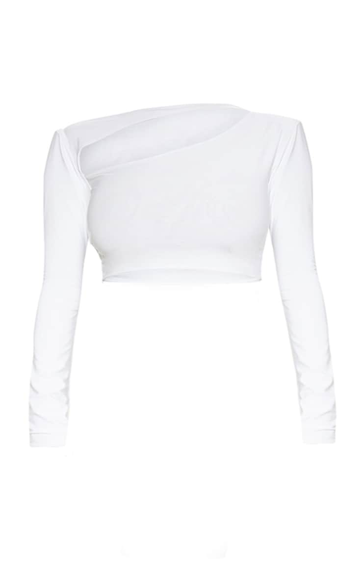 Plus White Cut Out Crop Top 3