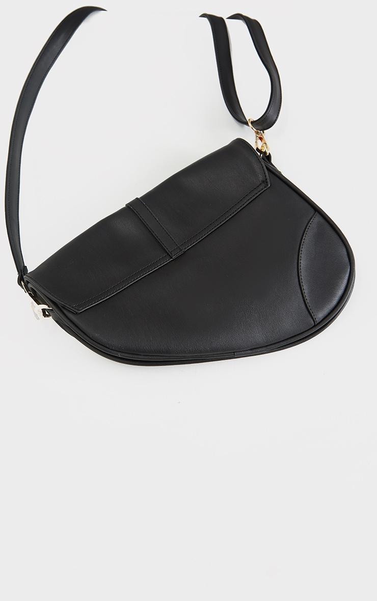 Black Saddle Cross Body Bag 3