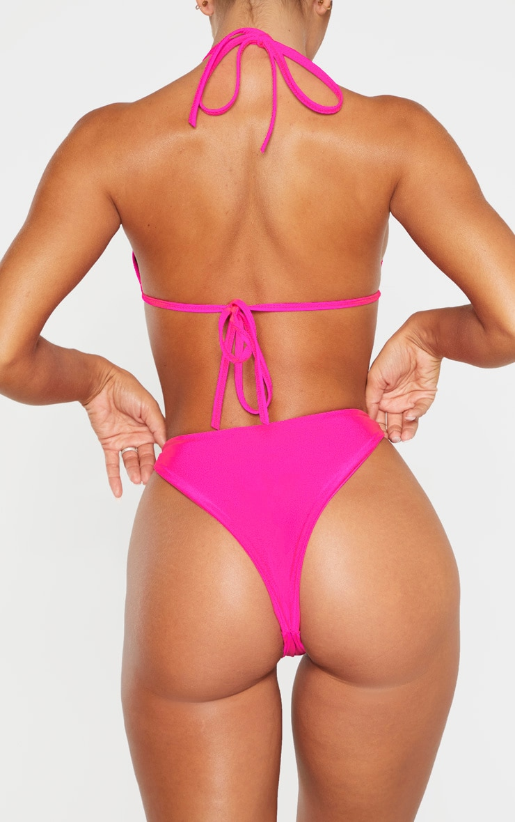 Pink Mix & Match Super High Leg Brazilian Bikini Bottom 3