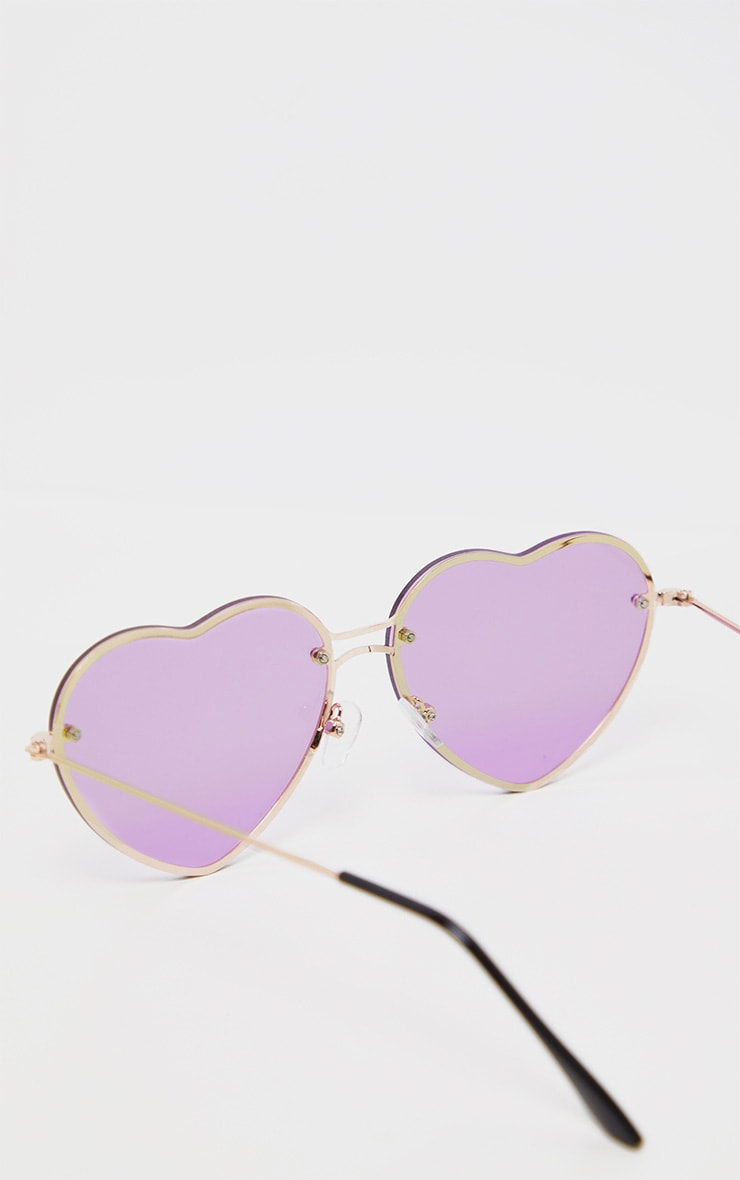 Purple Heart Shaped Sunglasses 3