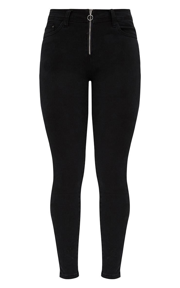 Black Small Ring Detail Skinny Jean  3