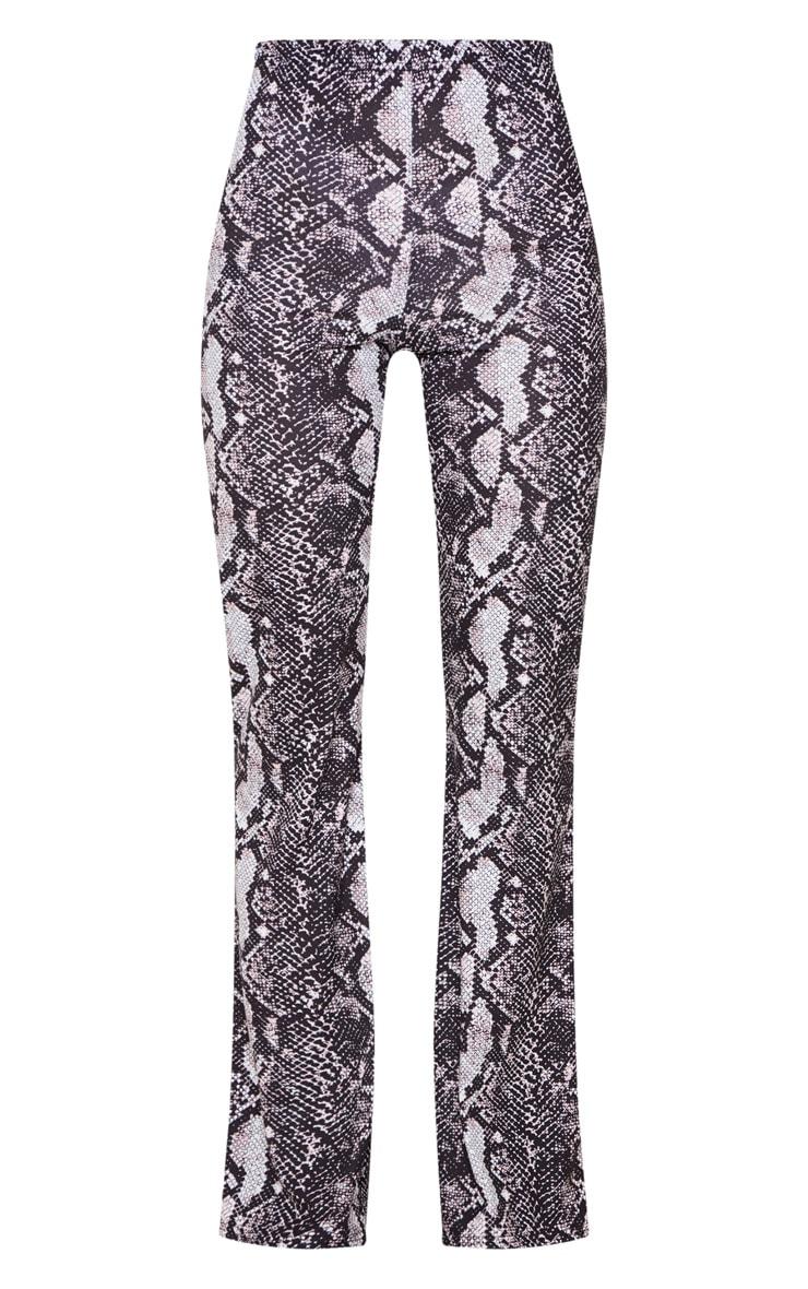 Snake Print Flare Leg Trouser 3