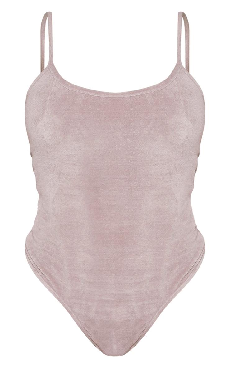 Shape Grey Velour Strappy Bodysuit 3