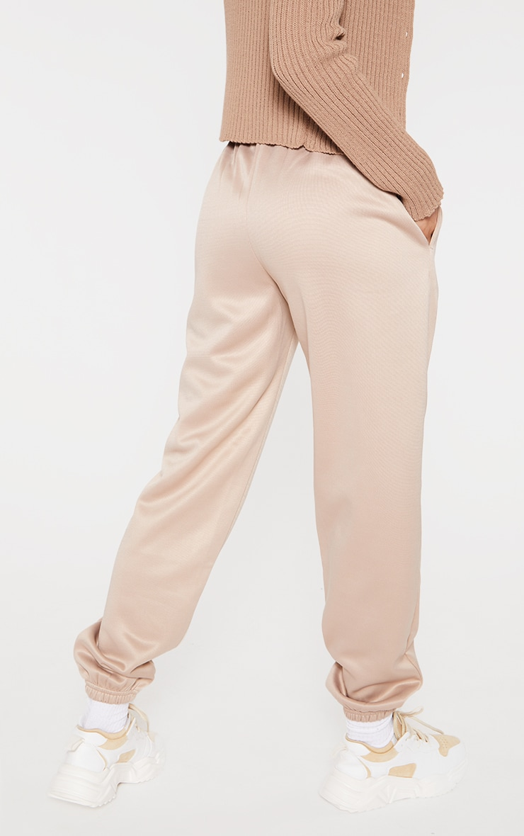 PRETTYLITTLETHING Stone Scuba Embossed Joggers 3