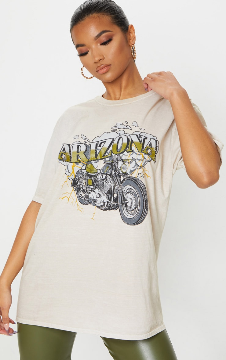 Sand Arizona Washed T Shirt 1